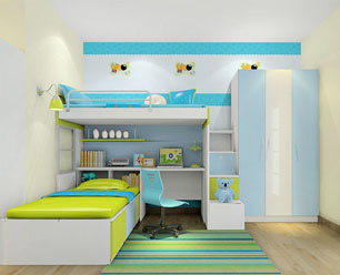 西林木业儿童房家居板材案例