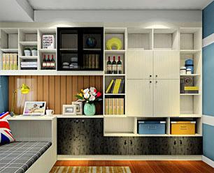 西林木业书房书柜板材案例